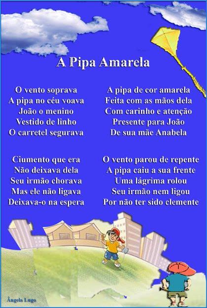 A PIPA AMARELA (Poema infantil)