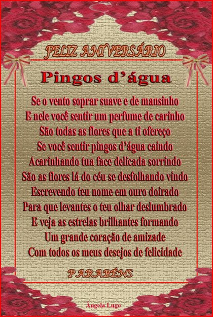 PINGOS D'�GUA (Para Vania)