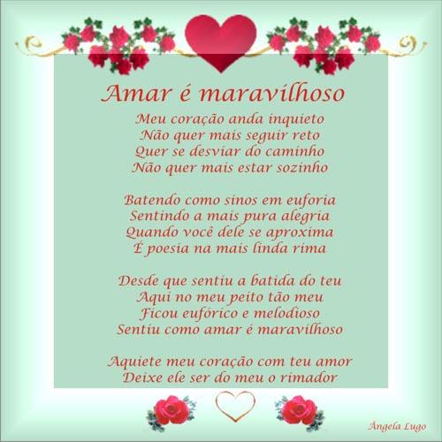 AMAR � MARAVILHOSO