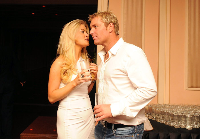 warne with girlfriend