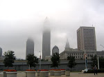 Cleveland Skyline in fog
