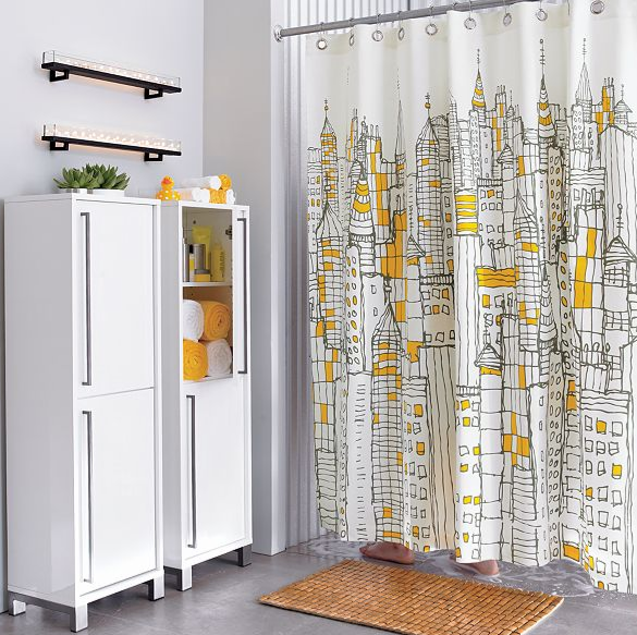 Cityscape Shower Curtain $40