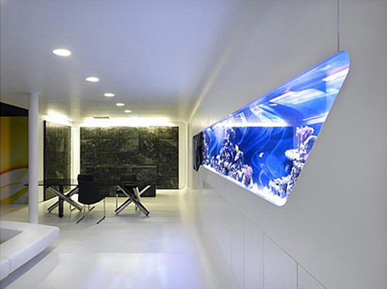 Merveilleux Create Home Aquarium Design To Cool And Fresh Interior