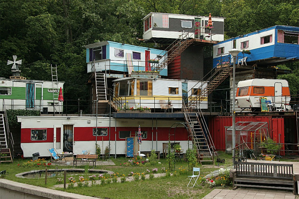 this man apparently loved living in trailer homes so much that he made