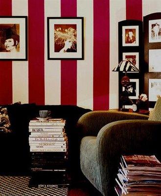 Vintage chic blog decoraci n vintage diy ideas para - Salones pintados a rayas ...