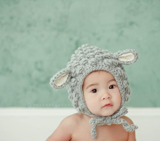 Gorros de lana para bebés con orejas - Imagui 62a300978cb
