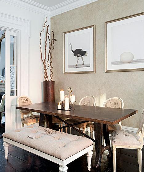 Crea vintage decorar con tela de saco for Telas para tapizar sillas comedor