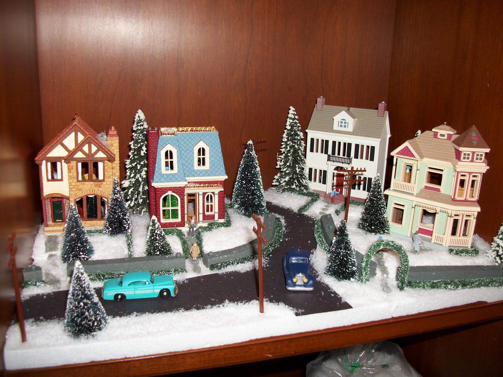 The Average Designer Displaying Nostalgic Houses And Shops By Hallmark