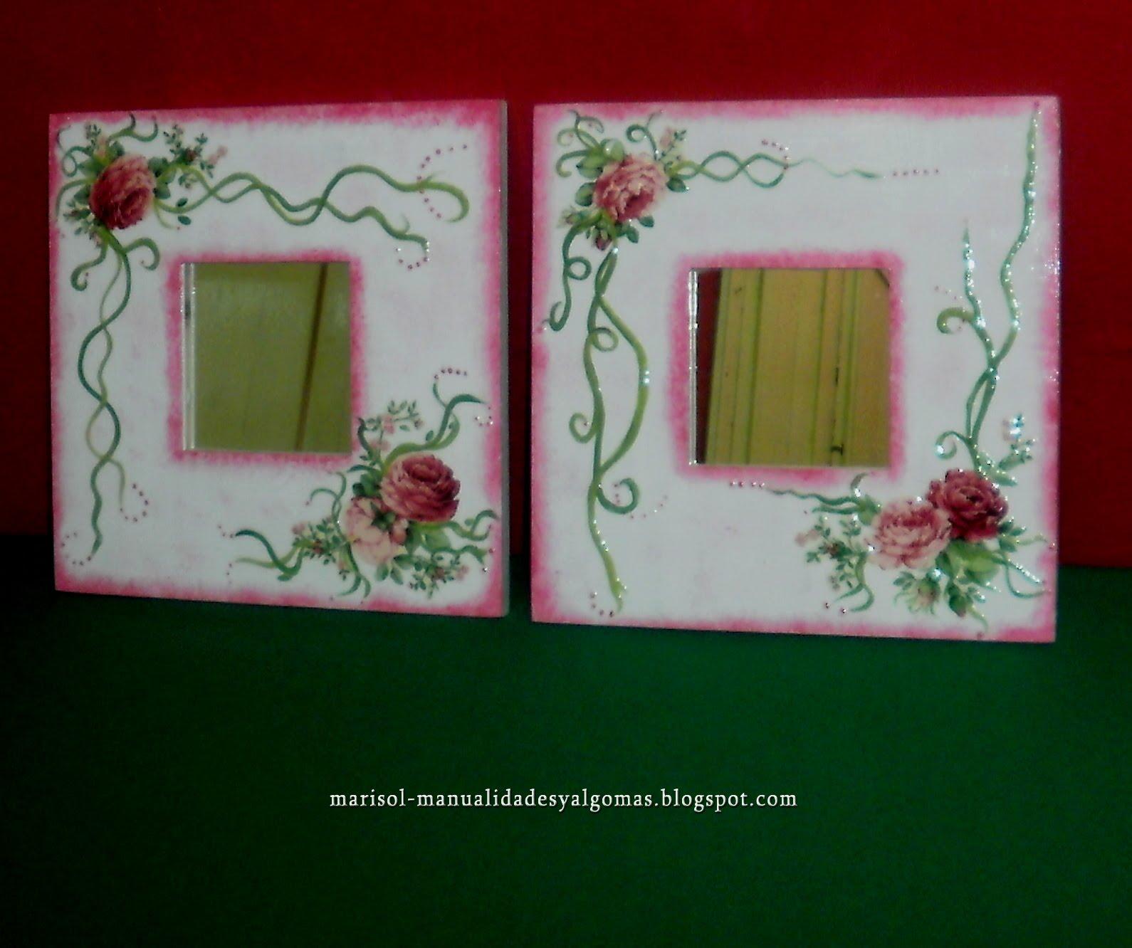 Manualidades y algo m s otros modelos de espejos - Espejos para manualidades ...