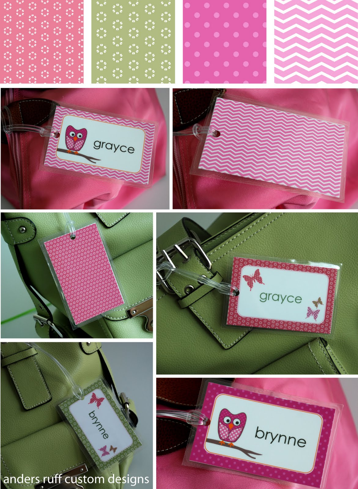 Gorgeous image in printable luggage tag