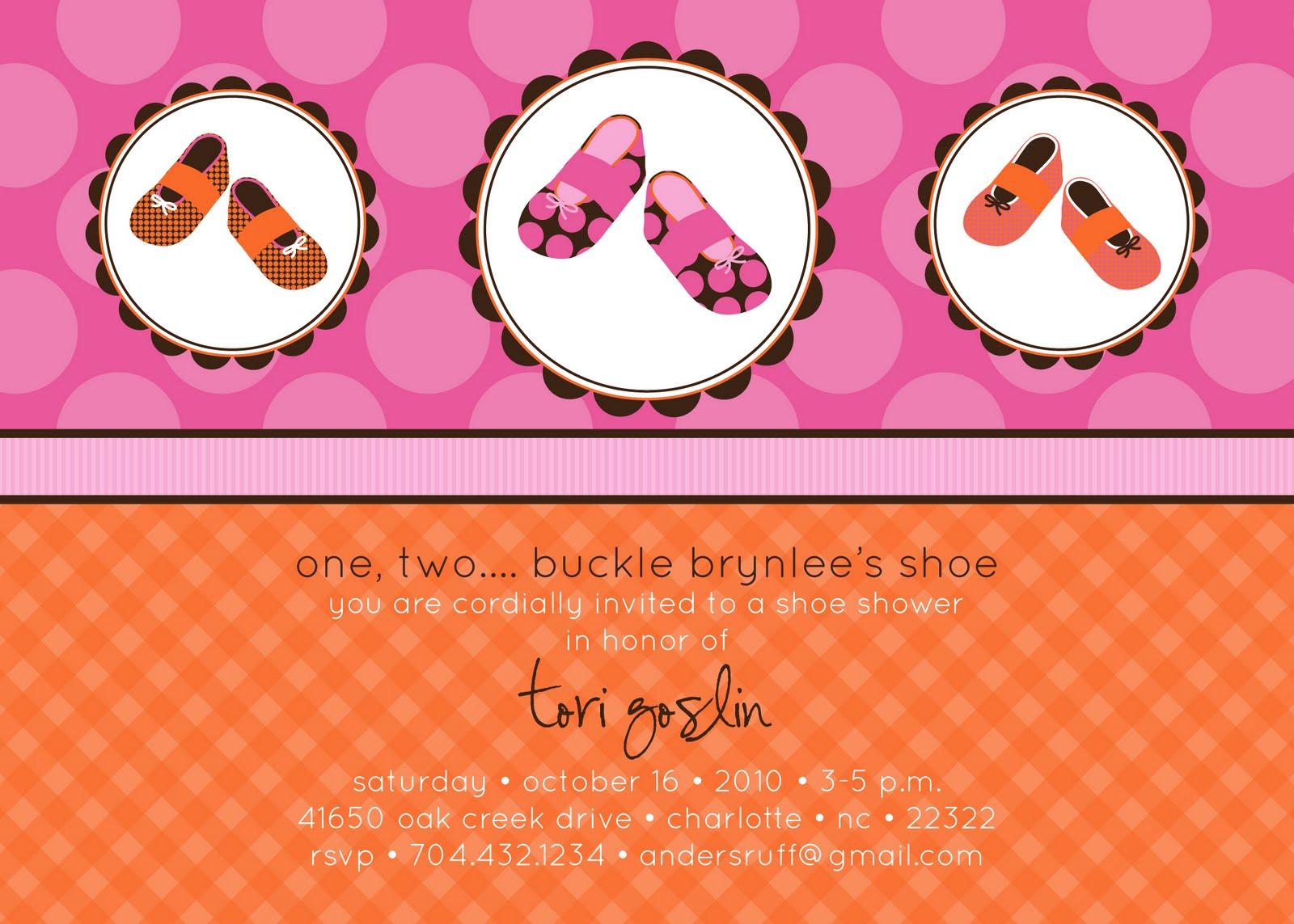 A Baby Shoe Shower! - Anders Ruff Custom Designs, LLC