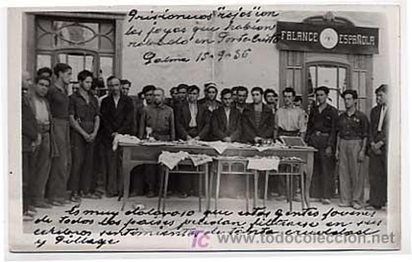 Georges Bernanos - Page 3 Prisioneros+rojos+en+la+puerta+de+Falange+Palma+Mallorca+1936