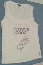 Armani Jeans white vest top