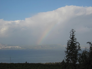 Rainbow over the Sea of Galilee