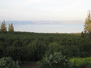 View from my room towards Tiberias