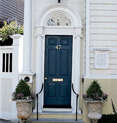 Curb appeal on pinterest dark teal front doors and doors for Navy blue front door