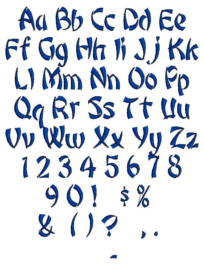 same monogram  font choices