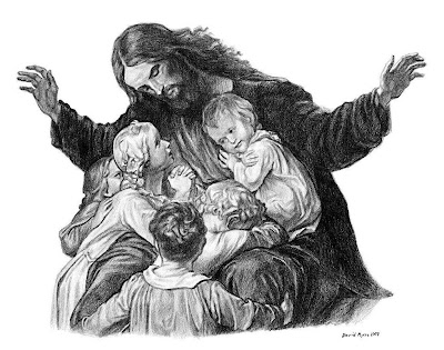 paintings of jesus with children. JESUS AND THE CHILDREN (sneak