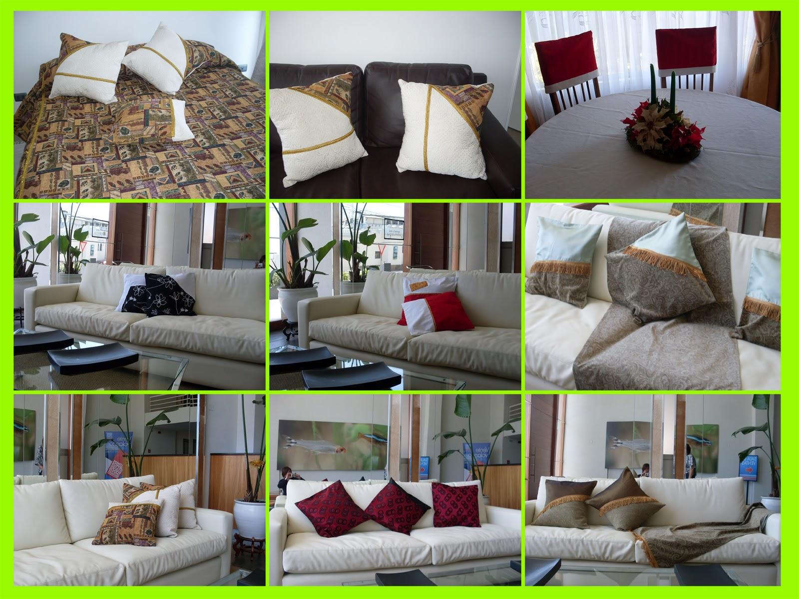 Dise o y confecciones gladys valdes deco hogar for Cojines para sillas walmart