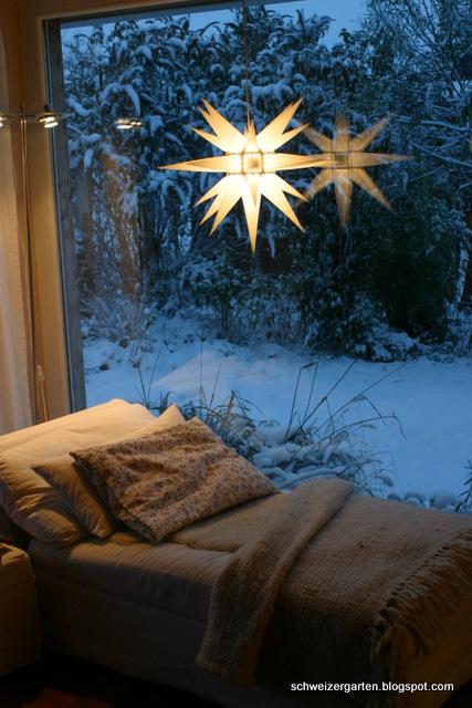 ein schweizer garten schnee. Black Bedroom Furniture Sets. Home Design Ideas