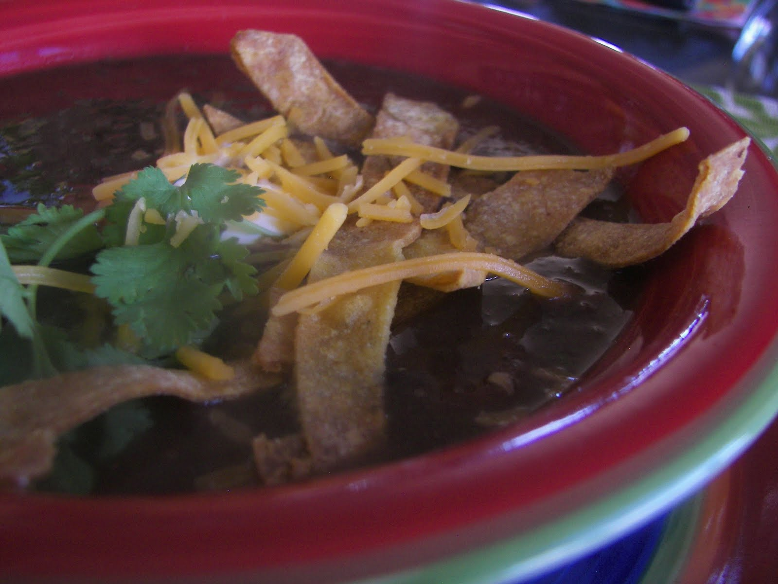 Red Couch Recipes: Spicy Black Bean Soup
