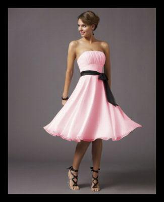 Juntos en el baile [Zabini] Vestido+rosa+lazo+negro+preciosoooooo