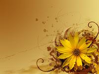 yellow theme Flower abstract design wallpaper