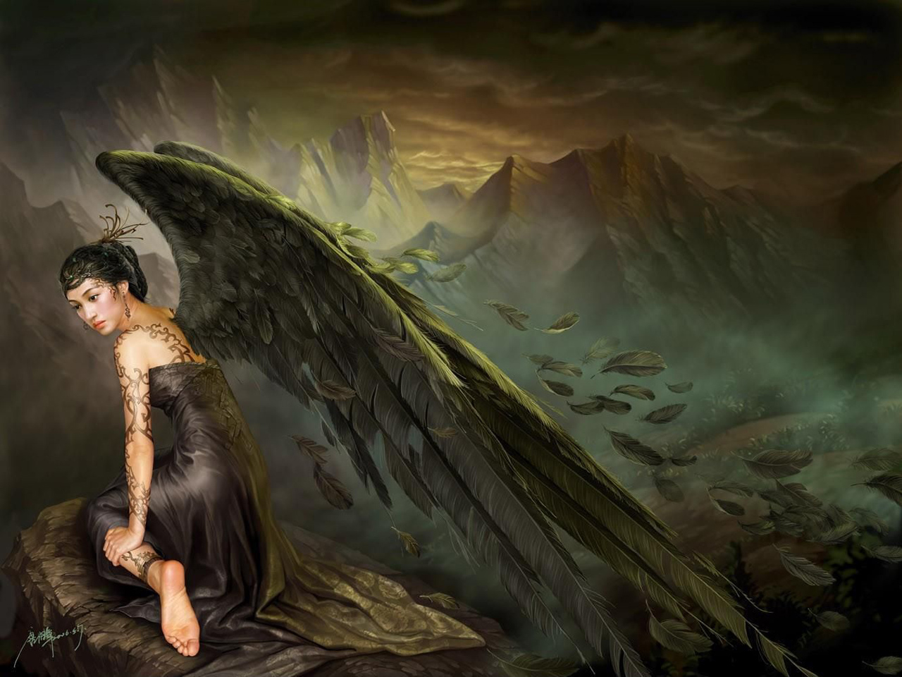 Pic new posts angels wallpaper for mobile - Angel girl wallpaper ...