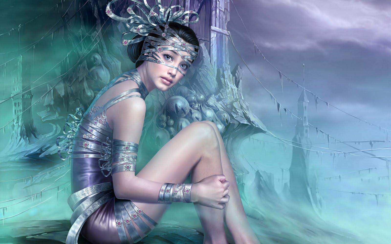 fantasy girl pc desktop hd paintings wallpaper 1440x900