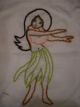 My embroidered hula girl