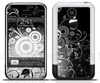 show off your iphone with this swirly art nouveau style iphone tattoo. it