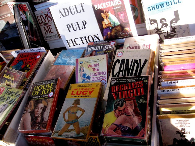 These adult pulp fictions (early porn?) were on a table filled with vintage ...