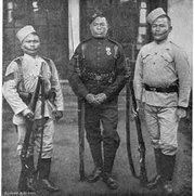 Old Photo with Gurkha Soldiers This photo is from the 