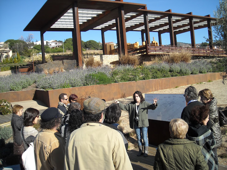 La Fundació Burriac visita el Parc Arqueològic Cella Vinaria  de Teià