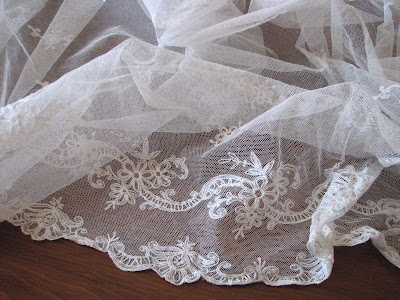 I also have over 120 inches of vintage wedding veil net