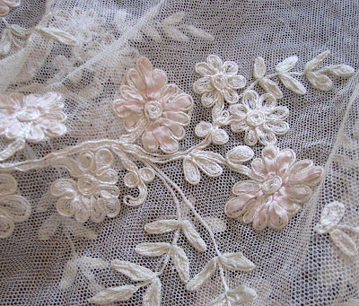Ribbon Work Designs http://ciderantiques.blogspot.com/2009/05/antique-lace-ribbon-work-and-bridal.html