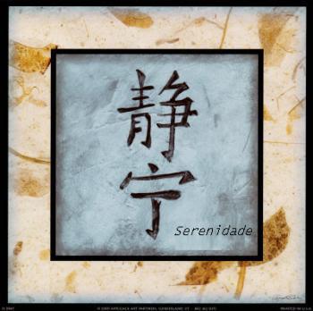 Deus - O caractere japonês para serenidade.