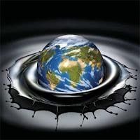 O mundo - humanidade - mergulhando em petróleo (bonita ilustração).