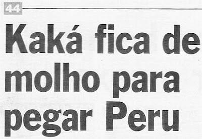 Foto de manchete de jornal com frase de duplo sentido.
