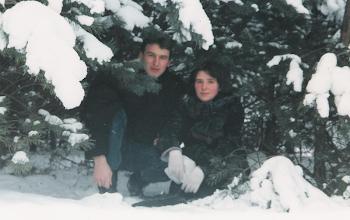 Kalina i Mężuś w niegdysiejszych śniegach