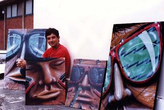 pinturas Burity - pátio da escola de Belas Artes