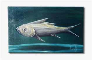 pintura Burity - série peixes