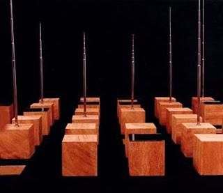 instalação o novo jogo - cubos madeira - espelhos - antenas telescópicas