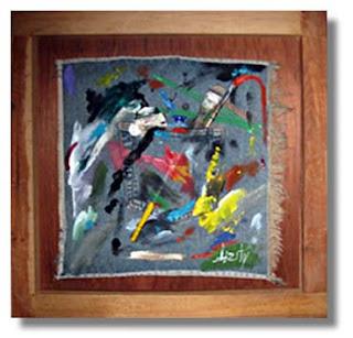 pintura burity - kit pintura 02 - resquícios - madeira - jeans - pinçéis - bisnagas