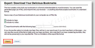 Imagem - export - bookmarks - delicious
