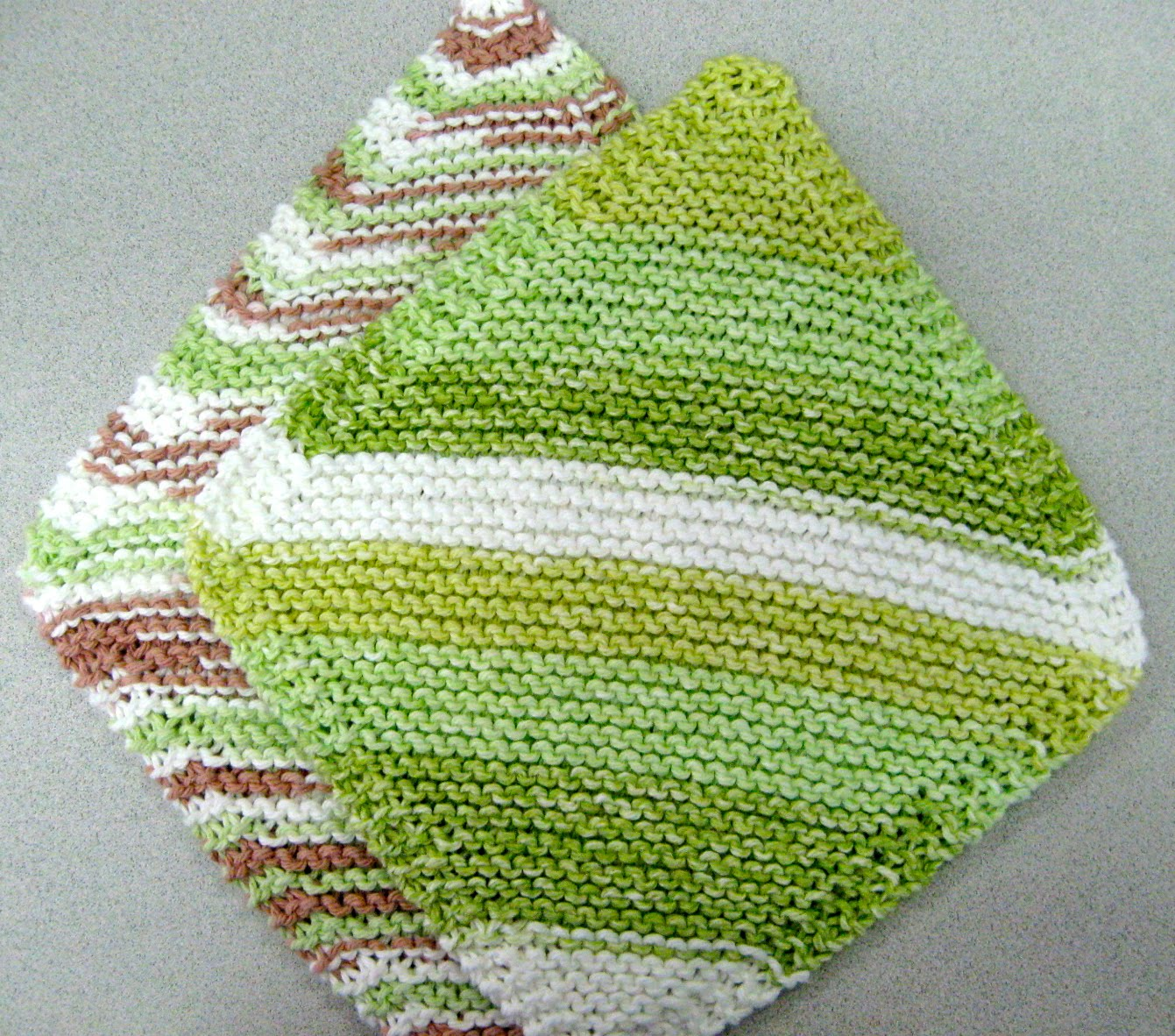 Easy Dishcloth Knitting Pattern For Beginners : Say it ain t so easy knit dishcloths