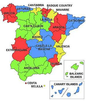 Spanish autonomous communities and cities