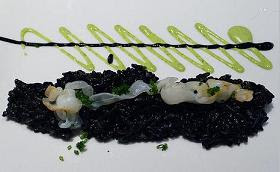 Black rice with squid