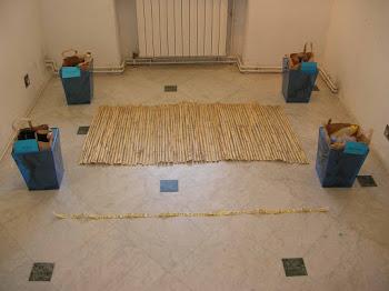 Installation 2008, avec objets récupérés sur 4 plages des Bouches-du-Rhône