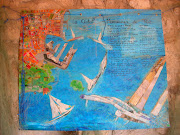 Plan de La Ciotat, réalisé en collage et acrylique sur papier craft. (planlaciotat )